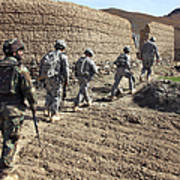 Afghan National Army And U.s. Soldiers Art Print