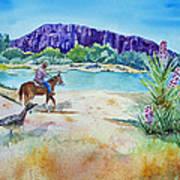 Texas - Along The Rio-grande Art Print