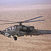 An Ah-64d Apache Longbow Fires A Hydra Art Print