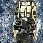 An Amphibious Assault Vehicle Navigates Art Print