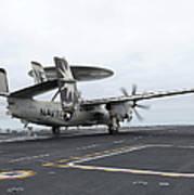 An E-2c Hawkeye Launches Off The Flight Art Print