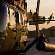 An Oh-58d Kiowa During Sunset Art Print