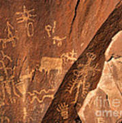 Ancient Indian Petroglyphs Art Print