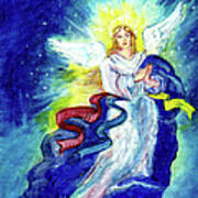 Angel Of Joy Art Print by Doris Blessington