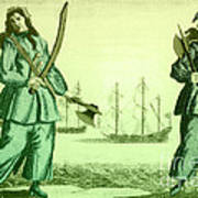 Anne Bonny And Mary Read, 18th Century Art Print