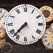 Antique Clocks Art Print by Elena Elisseeva