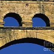 Aqueduc Du Pont Du Gard.provence Art Print by Bernard Jaubert