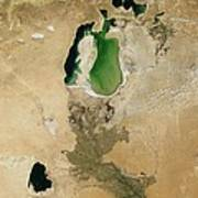 Aral Sea Art Print by NASA / Science Source