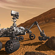 Artist Concept Of Nasas Mars Science Art Print