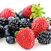 Assorted Fresh Berries Art Print