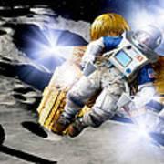 Asteroid Deflection, Astronauts Art Print