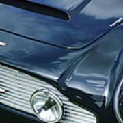 Aston Martin 1963 Aston Martin Db4 Series V Vintage Gt Grille Emblem -0140c Art Print