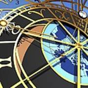 Astronomical Clock, Artwork Art Print