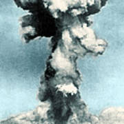 Atomic Bombing Of Nagasaki Art Print