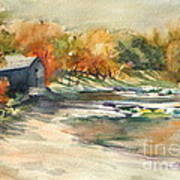 Autumn Morning At The Cove Art Print
