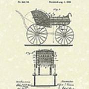 Baby Carriage 1886 Patent Art Art Print