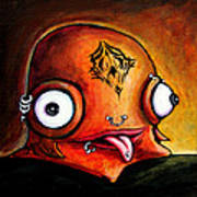 Bad Boy Glob Print by Leanne Wilkes