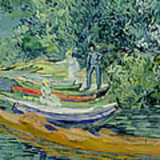 Bank Of The Oise At Auvers Art Print