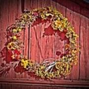 Barn Wreath Art Print