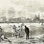Baseball: England, 1874 Art Print