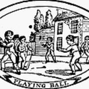 Baseball Game, 1820 Print by Granger