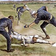 Baseball Game, 1885 Art Print
