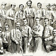 Baseball Teams, 1866 Art Print