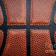 Basketball - Leather Close Up Art Print