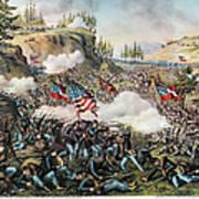 Battle Of Chickamauga 1863 Art Print