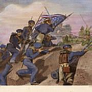Battle Of Churubusco, 1847 Art Print