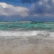 Beach Background Art Print