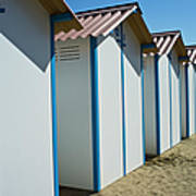 Beach Cabins In Venice, Italy Art Print
