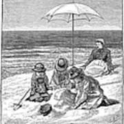Beach Scene, 1879 Art Print