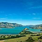 Beautiful Summer Day View Into The Akaroa Harbour Art Print