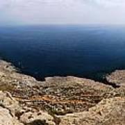 Beautiful View On Mediterranean Sea From Cape Gkreko In Cyprus Art Print
