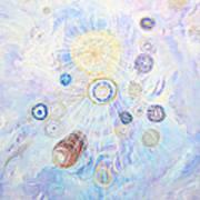 Beings Of Light Art Print by Judy M Watts-Rohanna
