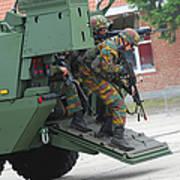 Belgian Infantry Soldiers Exit Art Print