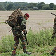 Belgian Paratroopers Red Berets Art Print