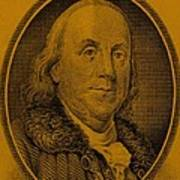 Ben Franklin In Orange Art Print