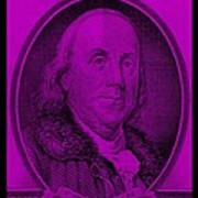 Ben Franklin In Purple Art Print