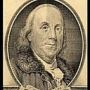Ben Franklin In Sepia Art Print