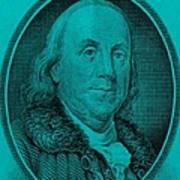 Ben Franklin In Turquois Art Print