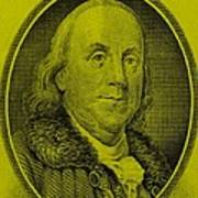 Ben Franklin In Yellow Art Print