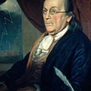 Benjamin Franklin, American Polymath Art Print