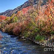 Blacksmith Fork River In The Fall - Utah Art Print