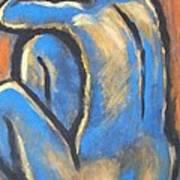 Blue Back Art Print