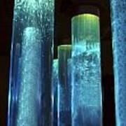 Blue Tubes Art Print