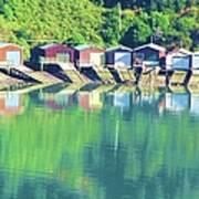 Boat House Reflections Art Print
