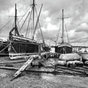 Boats On The Hard Pin Mill Art Print