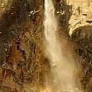 Bridal Veil Falls At Yosemite Art Print